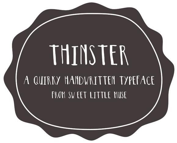 Thinster Typeface Handwritten Font