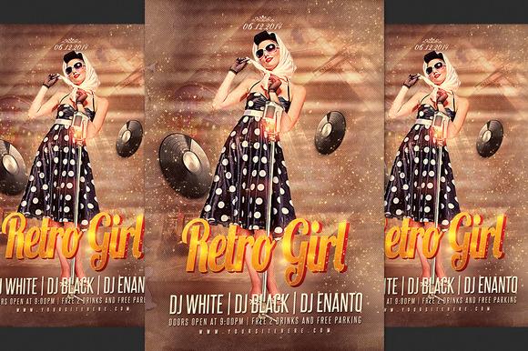 Retro Girl Flyer