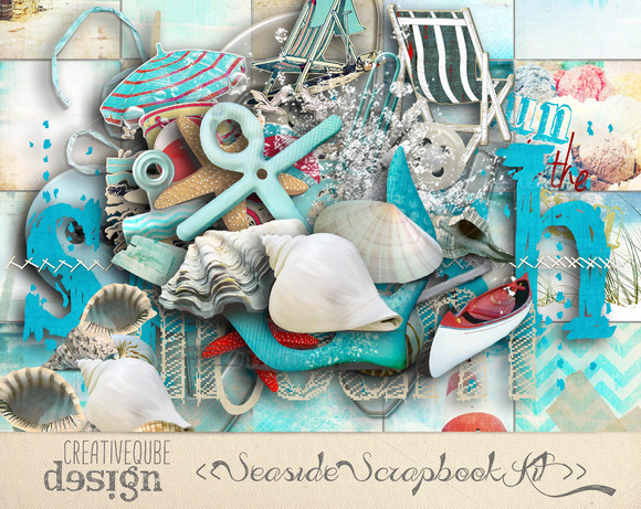Seaside Digital Scrapbook Kit