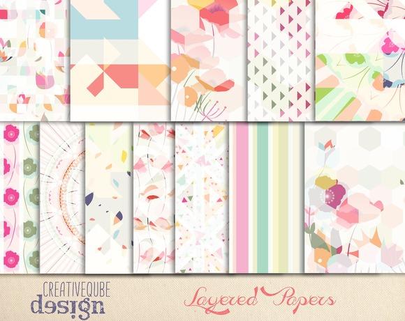 Digital Layered Geometric Paper