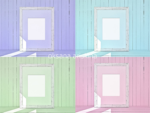 4 Colors Mockup Frames