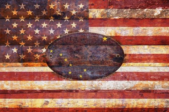 USA And Alaska Flags