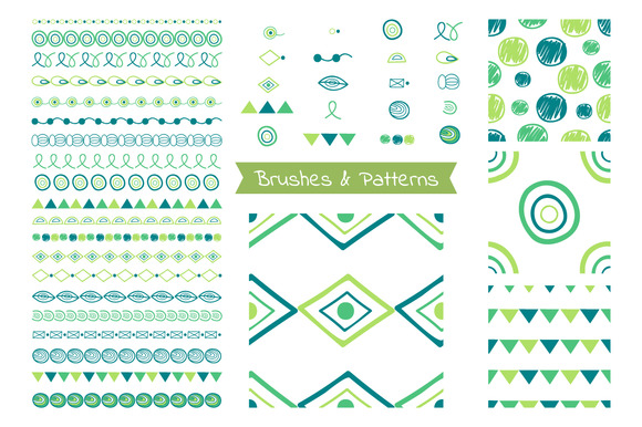 Set Of Brushes Patterns Frames