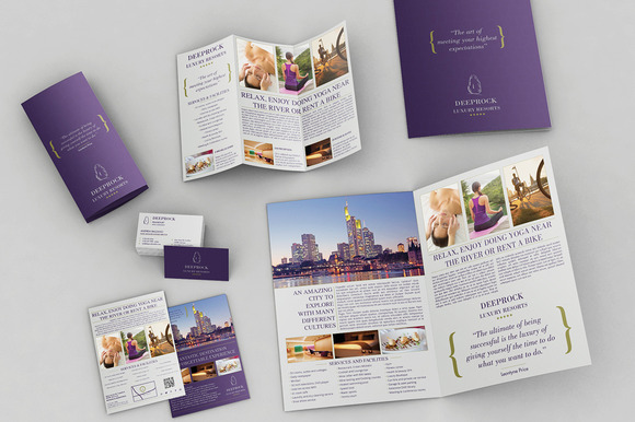 Set Of Brochures Stationery 02