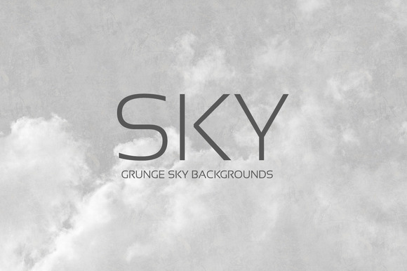24 Grunge SKY Backgrounds B W
