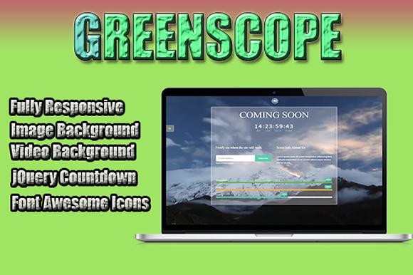 GreenScope Responsive Coming Soon