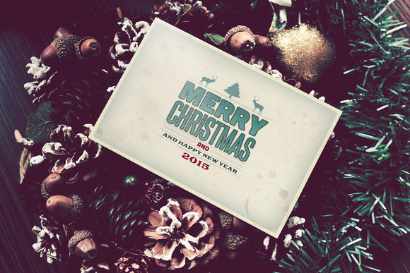 10 Retro Christmas Cards PSD
