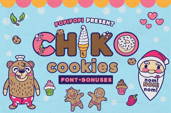 Chiko Cookies Typeface Cute Bonus