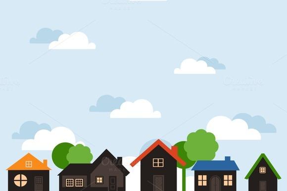 Landscape Of Houses