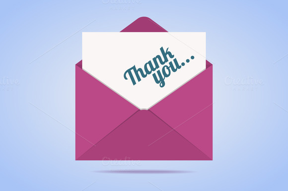Colorful Envelope With Thank You Let