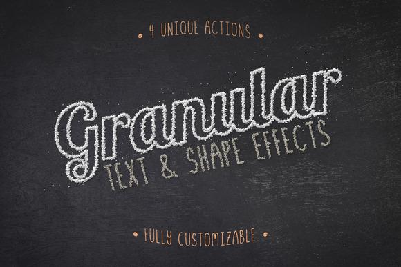 Granular Text Shape Effects Vol 1