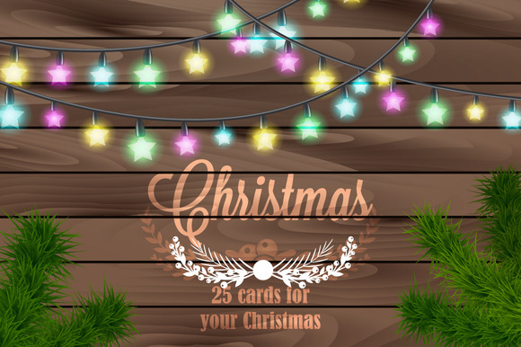 Set Of 25 Christmas Cards