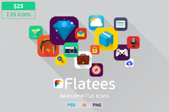 Flatees Icon Pack