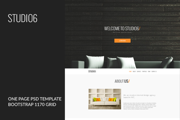 STUDIO6 One Page PSD Template