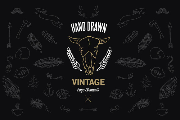 Hand Drawn Vintage Logo Elements