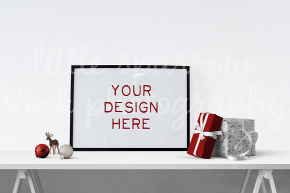 Holiday Poster Mock Up 1