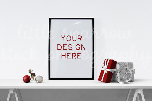 Holiday Poster Mock Up 2