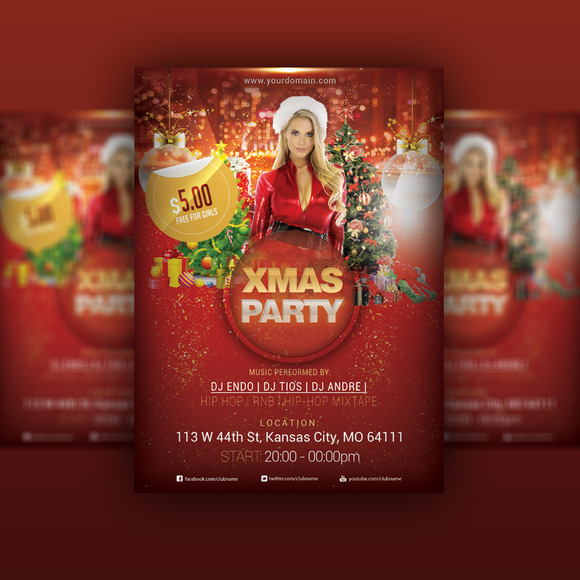 Xmas Party FLYER PSD Template