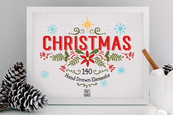 140 Christmas Elements 20%Off
