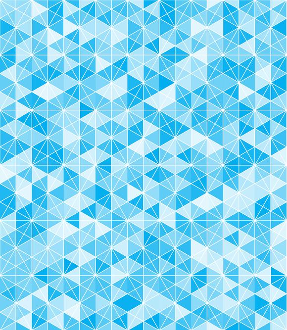 Blue Hexgrid Pattern