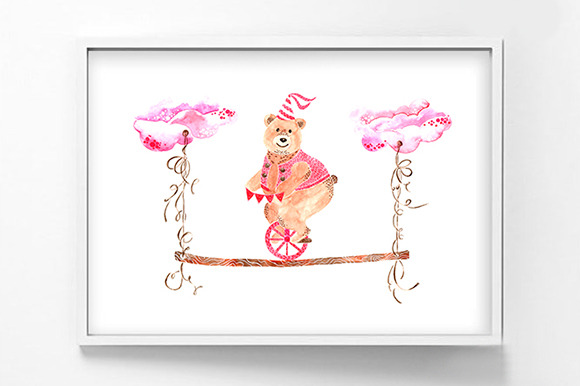 Printable Watercolor BabyBear Poster