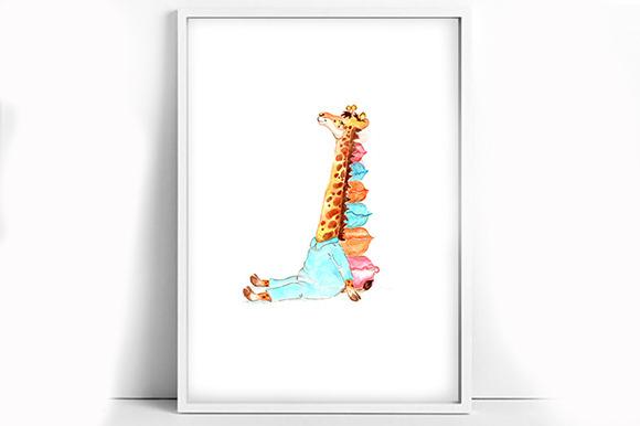 Printable Watercolor Giraffe Poster