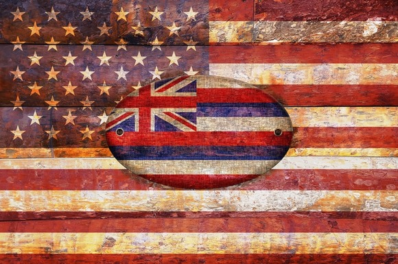USA And Hawaii Flags