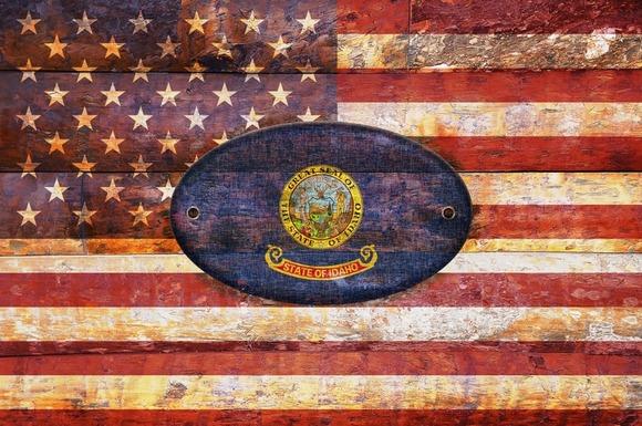 USA And Idaho Flags