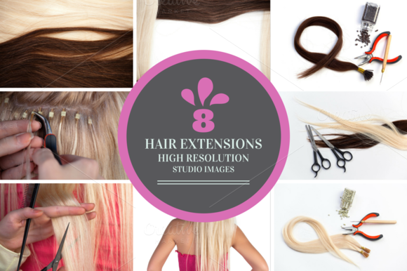8 Hair Extensions Set