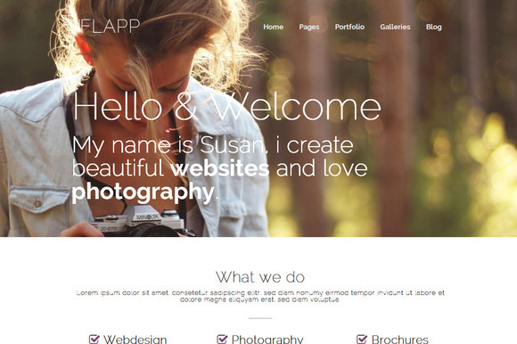Flapp Personal WordPress Theme