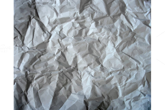 Set Texture Of Crumpled Paper