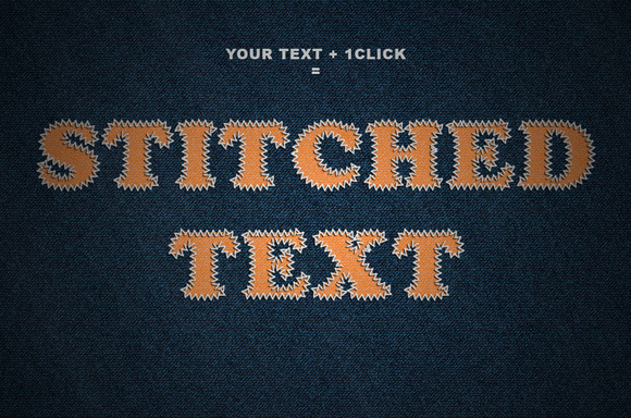 Stiched Text Action