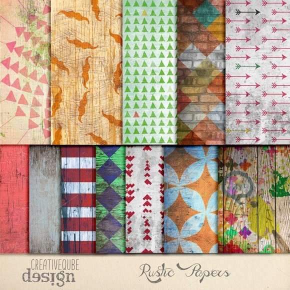 Rustic Digital Papers