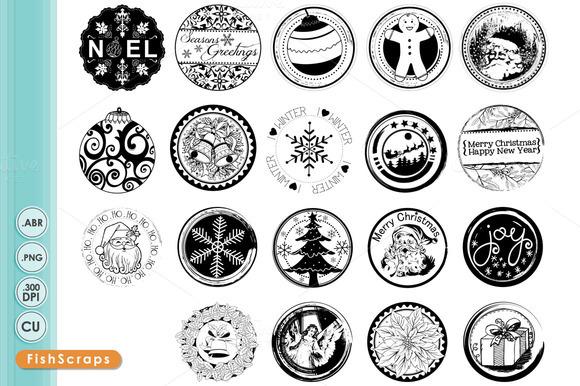 Christmas Circle Stamps