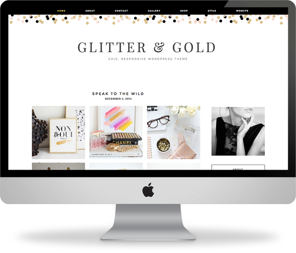 Glitter Gold Wordpress Template