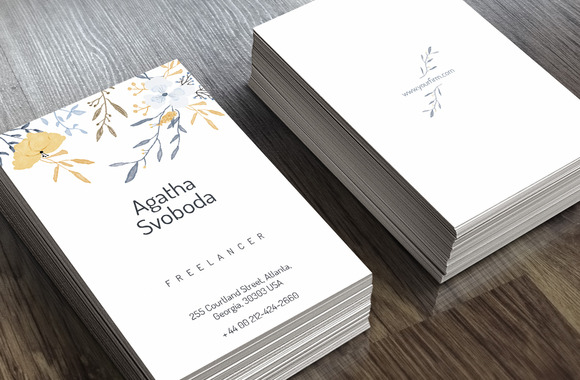Flower Business Card2