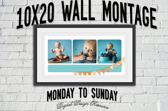 Birthday Bunting 10x20 Montage