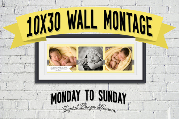 10x30 Wall Portrait Montage