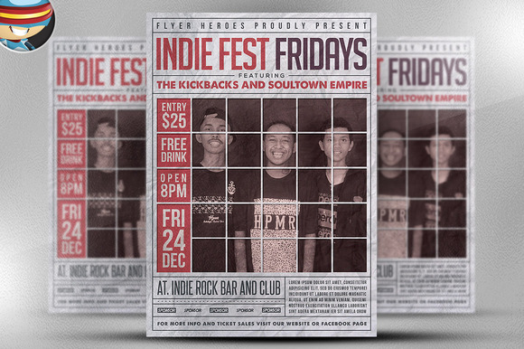Indie Fest Fridays Flyer Template