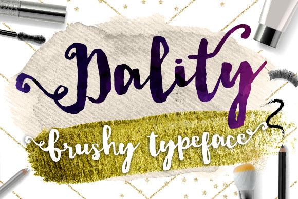 Dality Font Modern Brush Script