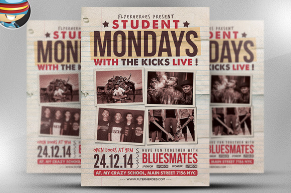Student Mondays Flyer Template