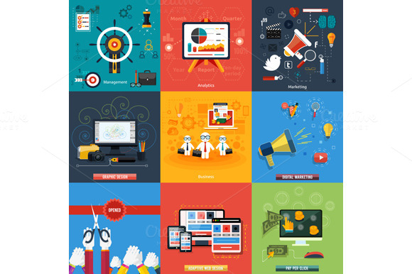 Icons For Web Design Seo Social
