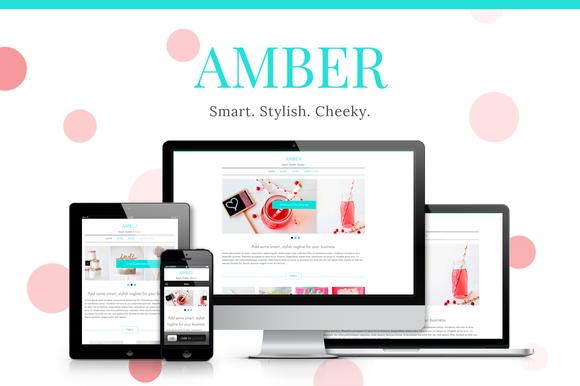 Amber Girlish WP Theme 50% OFF