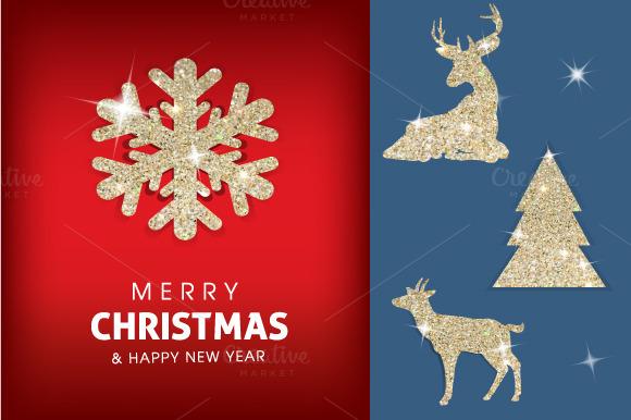 Christmas Card Glitter Constructor