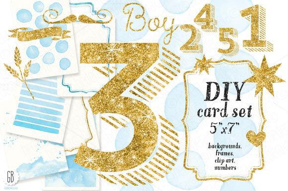 DIY Birthday Card Set Baby Boy