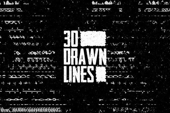 30 Drawn Lines