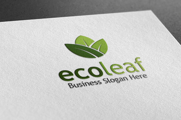 Eco Leaf Style Logo