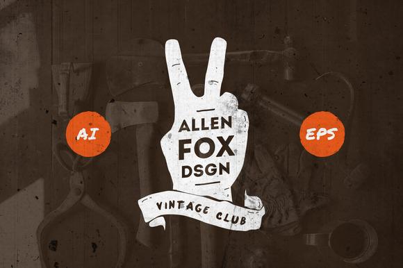 20 Vintage Grunge Badges
