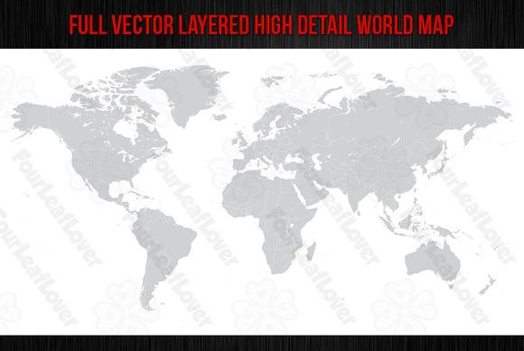 Hi Detail Vector World Map
