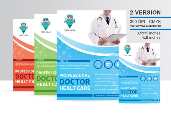 Professional Doctor Healt Care Flyer